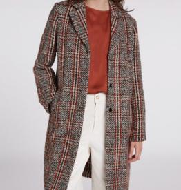 Oui OUI Plaid Coat
