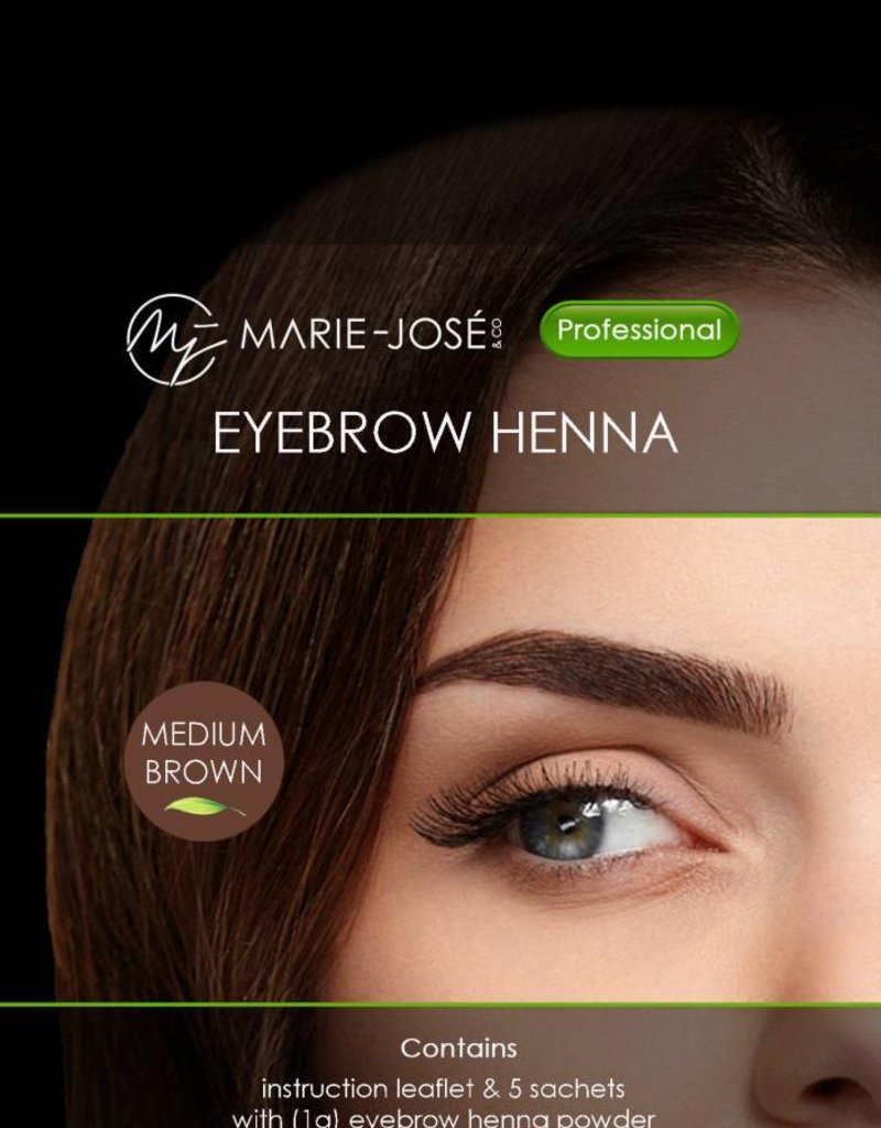 Henna Eyebrows Tint Medium Brown Henna Brows 15 Applications