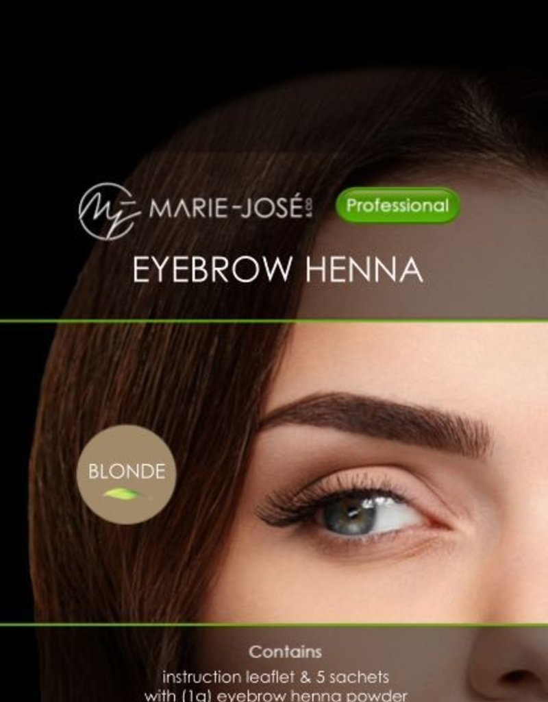 Henna Eyebrows Tint Blonde Henna Brows 15 Applications Marie