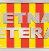 Vietnam Veteran - Ribbon w/wording License Plate