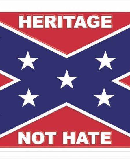 Heritage Not Hate Confederate License Plate