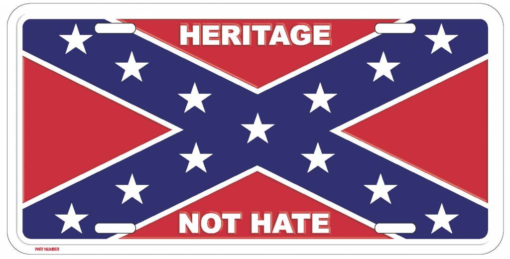 Ramsons Imports Heritage Not Hate Confederate License Plate
