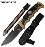 Tac-Force Fixed Blade Knife w/Paracord Bracelet