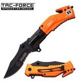 Tac Force EMT Spring Assisted Knife w/Flashlight