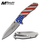 MTECH USA Spring Assisted Knife Red, White & Blue