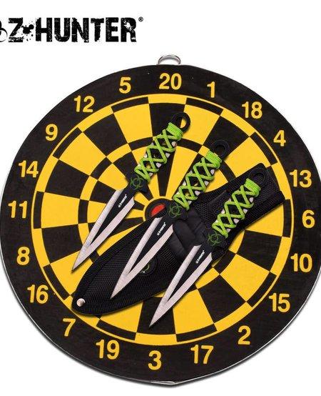 Z Hunter Throwing Knife Set with Target