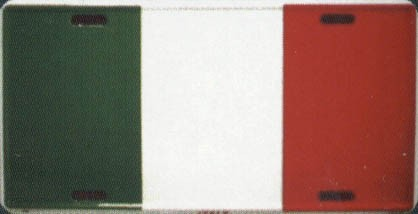 Ramsons Imports Italy Flag License Plate