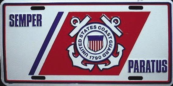 Coast Guard - Semper Paratus License Plate