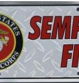 Ramsons Imports Semper Fi License Plate