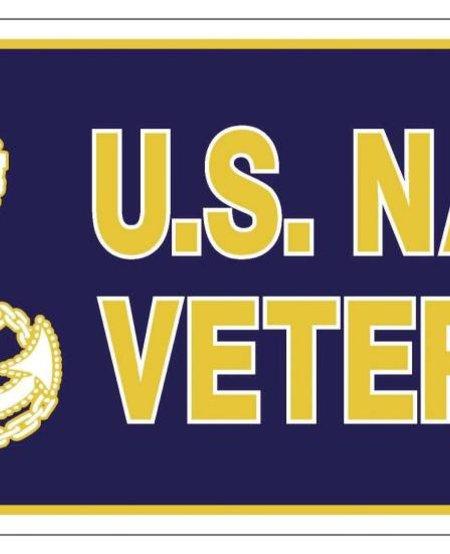 U.S. Navy Veteran License Plate
