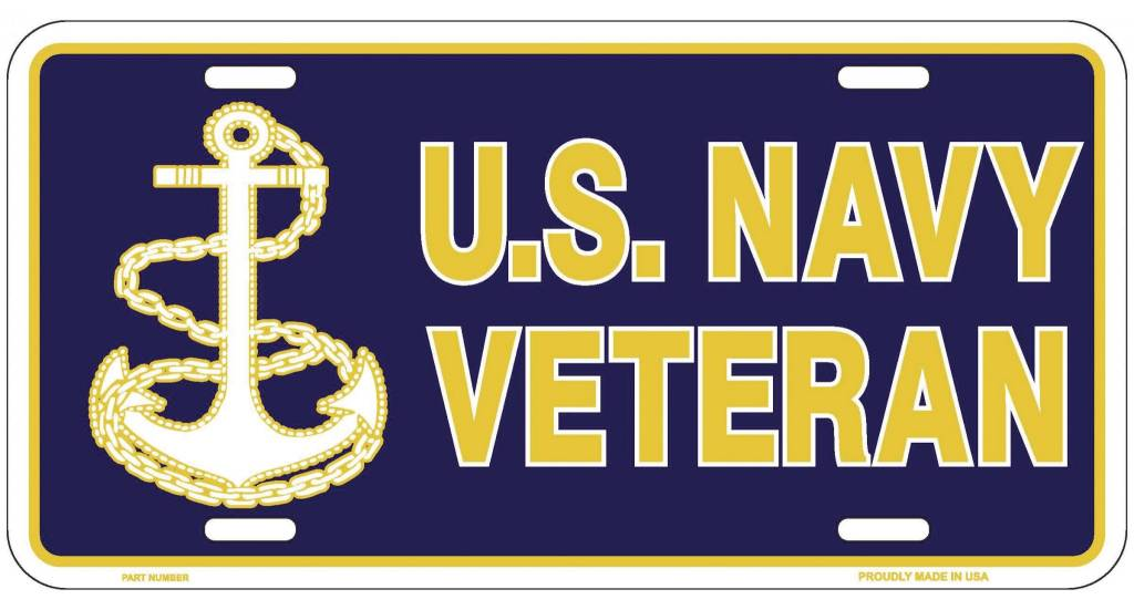 Ramsons Imports U.S. Navy Veteran License Plate