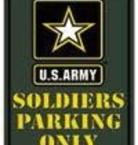 Ramsons Imports U.S. Army 8 X 12 Metal Parking Sign