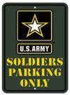 U.S. Army 8 X 12 Metal Parking Sign