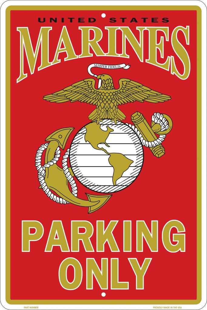 Ramsons Imports U.S. Marines 8 X 12 Metal Parking Sign