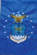 Ramsons Imports Air Force Embroidered Garden Flag - Double Sided 12 x 18