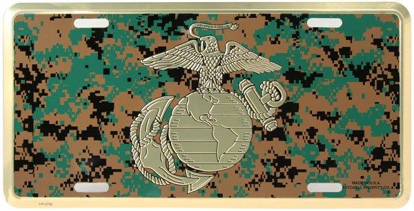 Mitchell Proffitt Marine Digital Camo License Plate