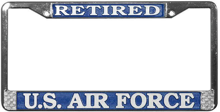 Mitchell Proffitt Retired U.S. Air Force License Plate Frame