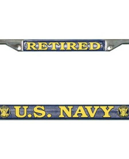 Retired U.S. Navy License Plate Frame