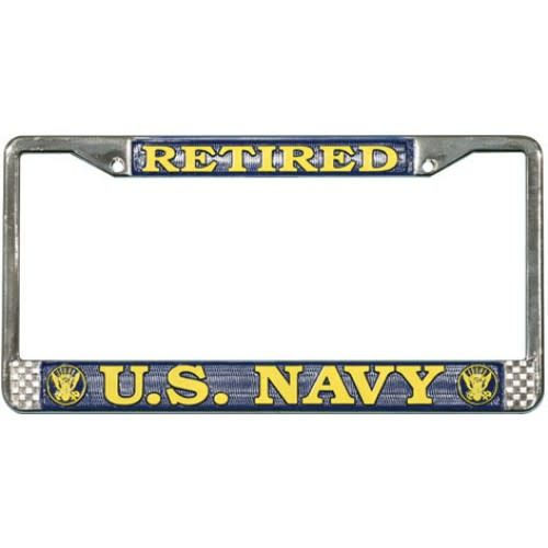 Mitchell Proffitt Retired U.S. Navy License Plate Frame