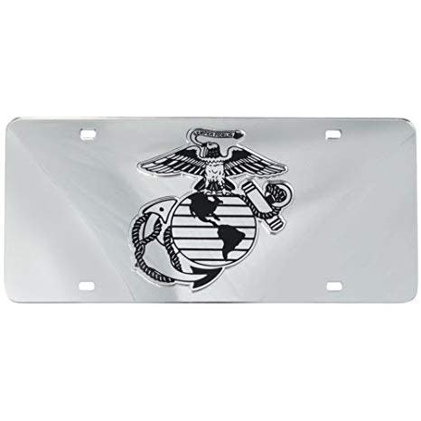 Mitchell Proffitt Marines Mirrored License Plate