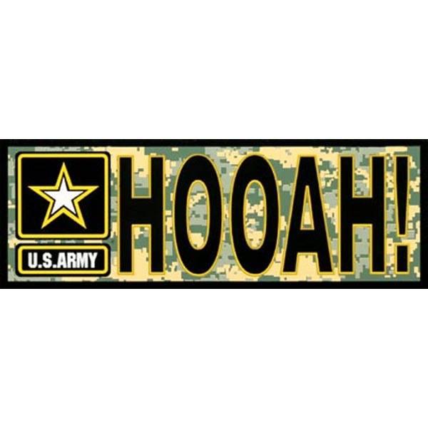 "Mitchell Proffitt ""HOOAH!"" with Army Star Logo on ACU Bumper Sticker"