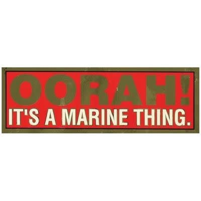 Mitchell Proffitt OORAH It's a Marine Thing Metallic Bumper Sticker