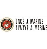 """Mitchell Proffitt Once a Marine 8.5"""" x 3"""" Bumper Sticker"""