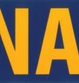 "Mitchell Proffitt Navy with Logo 9.5"" x 3"" bumper Sticker"