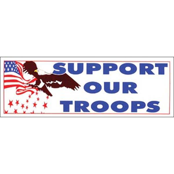 "Mitchell Proffitt Support Our Troops 7.75"" x 3"" Bumper Sticker"
