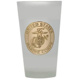 Mitchell Proffitt 16 oz Frosted Beer Glass