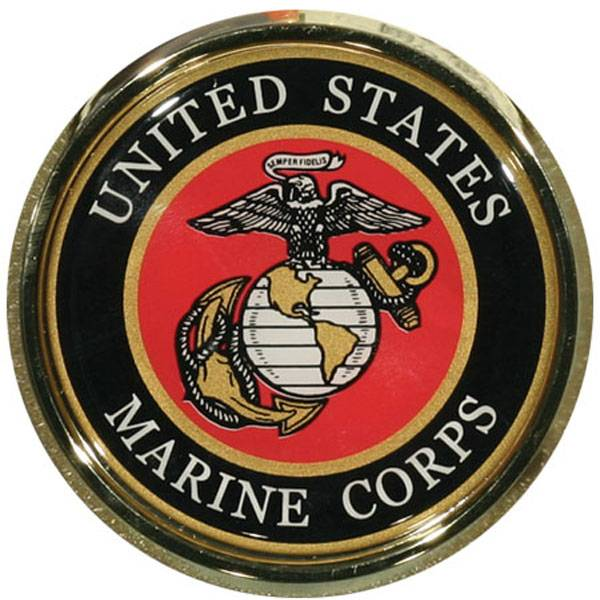 Mitchell Proffitt US Marines Crest Round Auto Chrome Emblem
