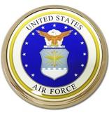 Mitchell Proffitt US Air Force Crest Round Auto Chrome Emblem