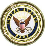 Mitchell Proffitt US Navy Crest Round Auto Chrome Emblem