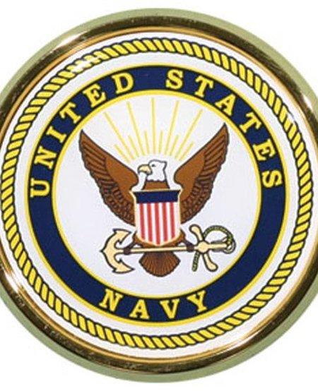 US Navy Crest Round Auto Chrome Emblem