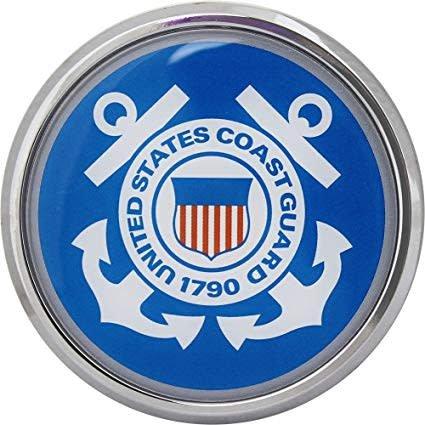Mitchell Proffitt US Coast Guard Crest Round Auto Chrome Emblem