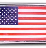 Mitchell Proffitt USA Flag Chrome Auto Emblem