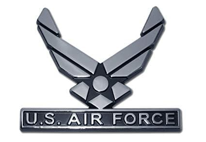 Mitchell Proffitt Silver US Air Force Symbol Auto Chrome Emblem