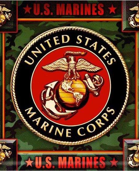 U.S. Marines Corps Crest Coaster (8 pk)