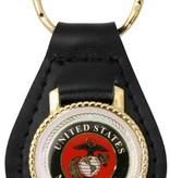 Mitchell Proffitt United States Marines Leather Key Fob