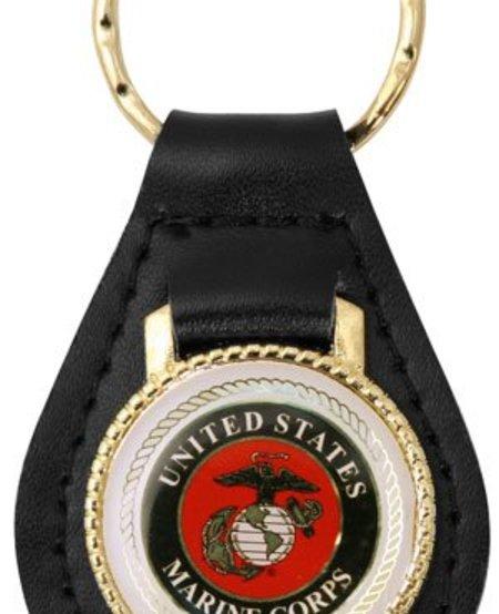 United States Marines Leather Key Fob