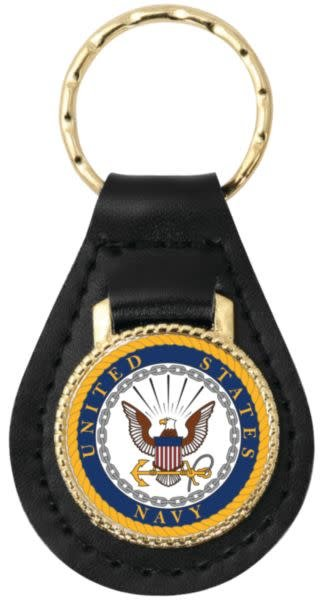 Mitchell Proffitt United States Navy Leather Key Fob
