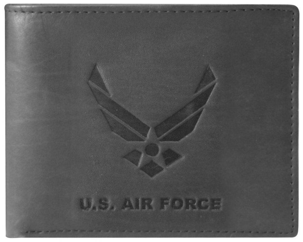 Mitchell Proffitt U.S. Air Force Embossed 100% Genuine Leather Wallet