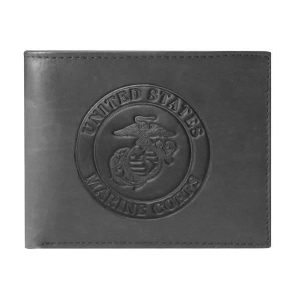 Mitchell Proffitt U.S. Marines Embossed 100% Genuine Leather Wallet