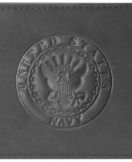 U.S. Navy Embossed 100% Genuine Leather Wallet