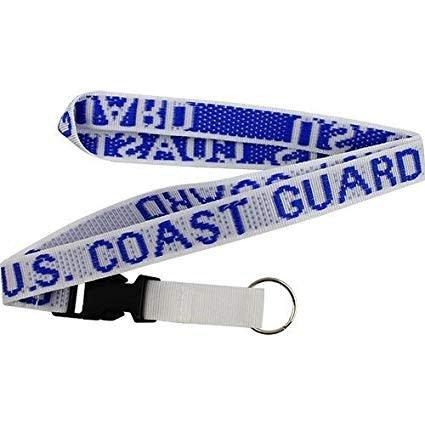 Mitchell Proffitt U.S. Coast Guard Removable Clasp White Lanyard