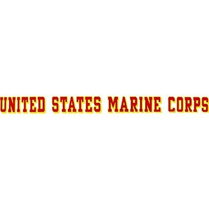 Mitchell Proffitt Marine Corps Window Strip Decal