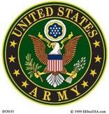 Mitchell Proffitt U.S. Army Crest Window Decal