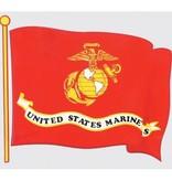 Mitchell Proffitt U.S. Marines Wavy Flag Window Decal