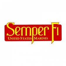 "Mitchell Proffitt Semper Fi Window Decal 10"" x 4"""