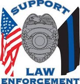 Mitchell Proffitt Support Law Enforcement Window Decal